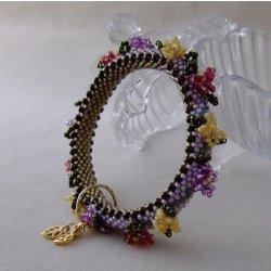 画像3: チューブクロッシェで編むお花のバングル
