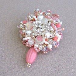 画像1: 小花のブーケブローチ