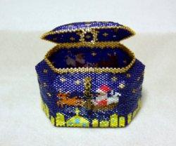 画像2: ペヨーテステッチで編むクリスマスボックス