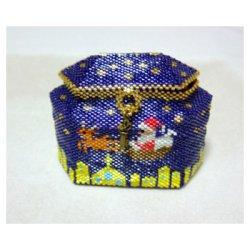 画像1: ペヨーテステッチで編むクリスマスボックス